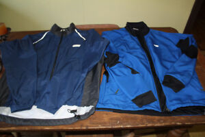 Louis Garneau thermal & Sugoi Rain cycling bike Jackets