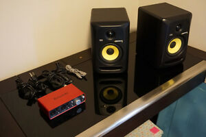 "KRK Rokit 5"" Monitor w/ Scarlett 2i2 USB Interface"