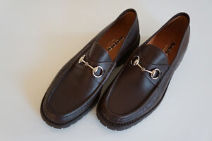 MEN'S GUCCI LOAFERS - HORSEBIT BROWN LEATHER