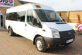 2012 FORD TRANSIT 430 TDCI 135 LWB EL 17 SEAT BUS RWD MINIBUS DIESEL