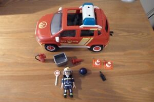 PLAYMOBIL - VOITURE CHEF POMPIER 5364