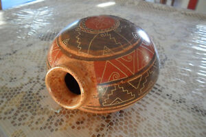 Vintage native pottery seed pot