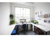 Bright, quiet studio in creative warehouse nr London Fields/Broadway Mrkt. Rooftop bar, great cafe.