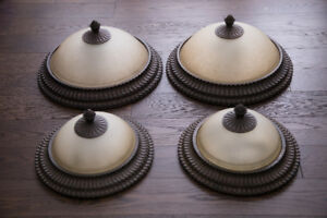 Four matching ceiling lights by Kichler