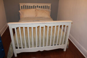 Double Size - Bed frame in Off White Cottage Country Style