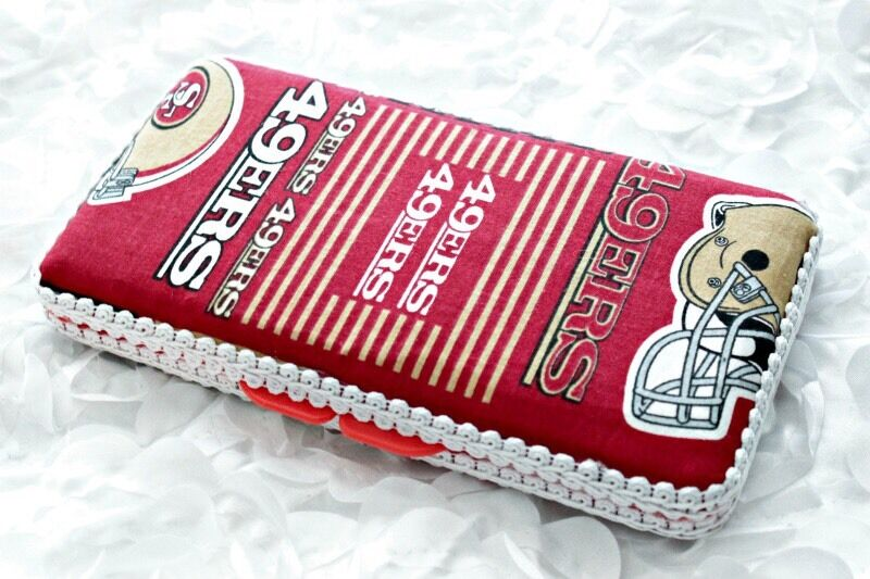 49ers Travel Baby Wipes Case