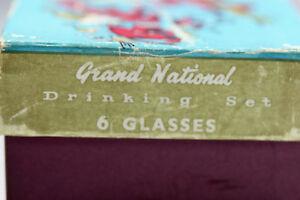 6 Vtg Shot Glasses Grand National Horse Race winners 1955 -1960 Kingston Kingston Area image 6