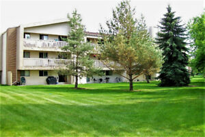 SECLUDED TOP FLOOR  2 BEDROOM CONDO BACKING GREEN SPACE!!!!