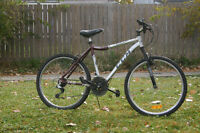 "aluminum body 26"" tire size mountain bike CCM"