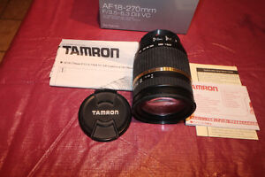 Tamron AF 18-270mm f/3.5-6.3 Di II VC  for Canon Cameras