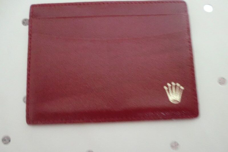 Rolex Leather Card Holder