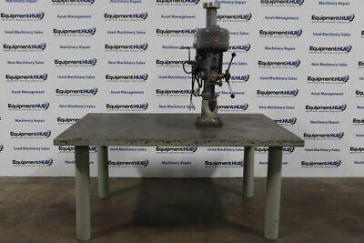 Rockwell Delta 70-400 20 Drill Press On Heavy Duty Steel Table