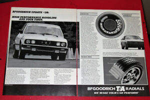 1987 BF GOODRICH TIRES AD WITH BMW 535I AD - ANONCE PNEU RETRO