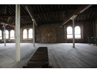 Loft warehouse space for photoshoot and filming