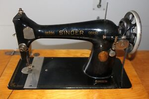 Antique Serger Sewing Machine and Table 1920s