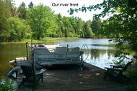 3 bed 3 bath Waterfront Hobby Farm 6+ Acres 450+ ft waterfront