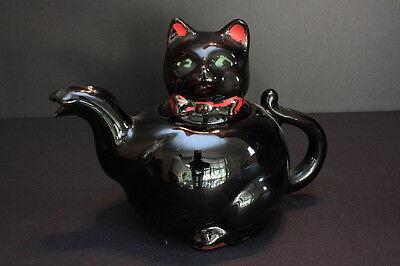 Vintage - Stafford Black Cat Teapot