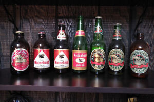 Vintage Moosehead beer bottle collection