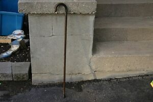 VINTAGE WOODEN CANE WITH RUBBER BOTTOM