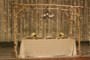 Arbor and cake stand