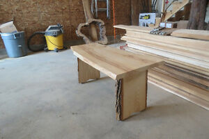 Live edge coffee table and coat racks