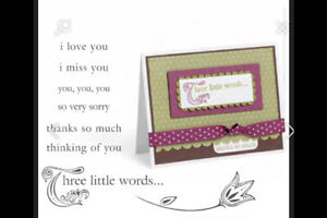 Stampin up Three Little Words