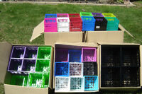 BRAND NEW STACKABLE CD & DVD CRATES SELLING CHEAP!!