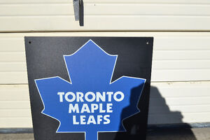 "LARGE HEAVY DUTY Toronto Maple Leafs Logo Sign Board 24"" X 24"""