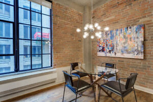 Spacious 1BR Loft Next To Square Victoria Downtown Montreal