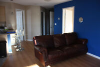 Partially furnished 2 bedroom condo with underground  parking.