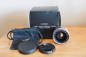 FUJI WCL-X100 WIDE CONVERSION LENS (Silver)