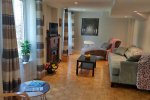 Fully Furnished 2 bed + 1 bath walk to Rutherford Go train