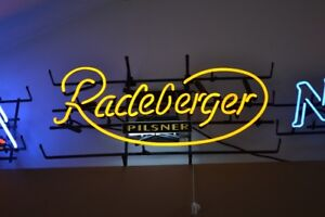 RADEBURGER PILSNER NEON SIGN YELLOW