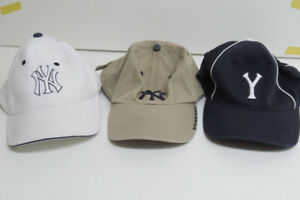 unused NEW YORK YANKEE ball caps x 3   stretch fit