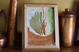 Framed, original, abstract watercolour painting