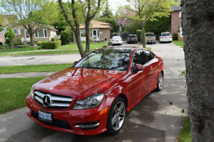 2013 Red Mercedes C250 Coupe