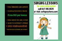 SINGING LESSONS FOR CHILDREN AND ADULTS