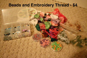 Embroidery Thread and Beads