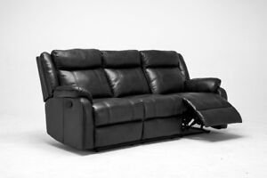 Leather gel reclining Sofa with fold down tray,3 colors IN STOCK