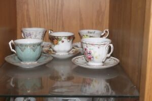 Antique and rare Tea Cups with Saucers  - Royal Albert and more