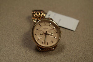Fossil Womens Tailor Rose Gold-Tone ES3713, 35mm Bracelet Watch