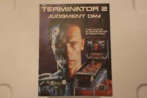 Terminator 2 Judgement Day Pinball flyer