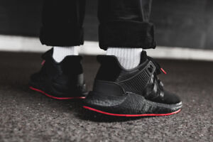 Adidas Boost EQT Support 93/17 Black and Red  - Size 13 US