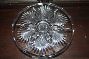 4 pcs. of Cut Crystal- Bowl, Candy Bowl, Cheese Dish, Cake Stand