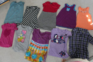 Lot of 10 Size 7-8 Girls Tops T-Shirts and Tank Tops
