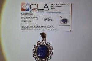 Sapphire  pendant- 18 Carats