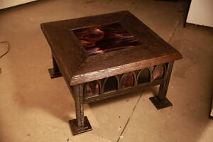 HAND FORGED, one of a kind, luxury gothic coffee table.