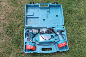 Makita 14.4 volt Drill & Hammer Drill with case/battery/charger