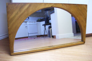 "Antique Pine Window Mirror from Ontario 45""x24 1/2"""