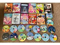Kids large DVD bundle peppy pig, noddy,mr tumble,frozen,barbie and many more!!
